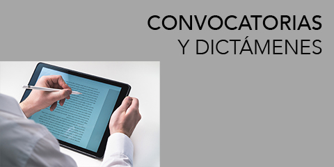 Convocatorias y Dictámenes